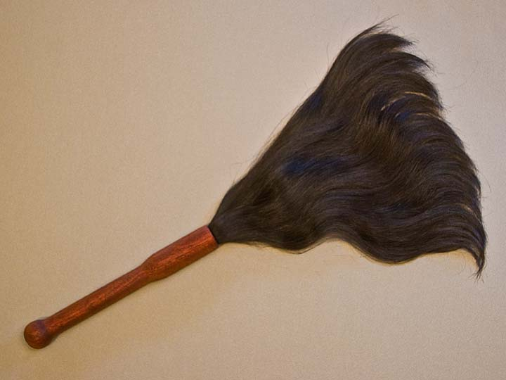 Ritual Object made of mahogany & human hair