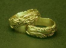 chinese dragon rings - Awesome Mokume Gane Knives